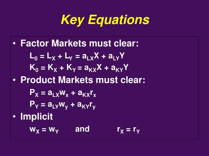 Key Equations