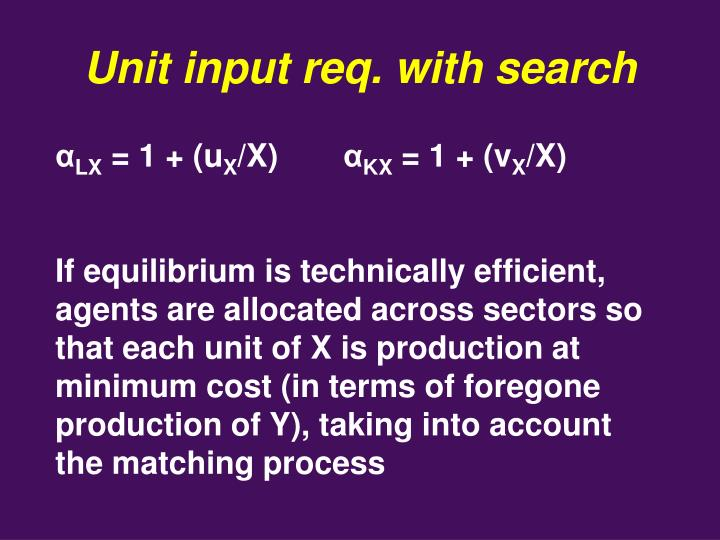 Unit input req. with search