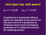 unit input req with search