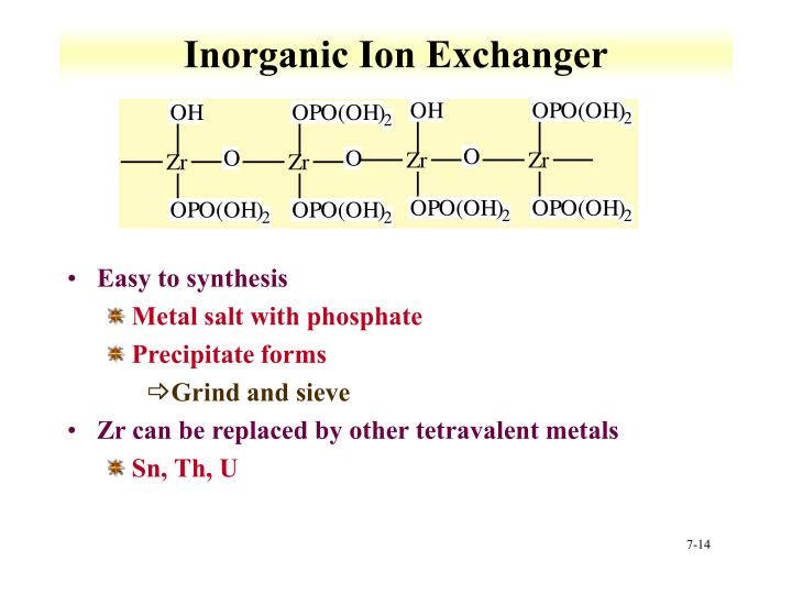 Inorganic Ion Exchanger