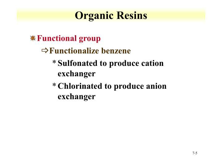 Organic Resins