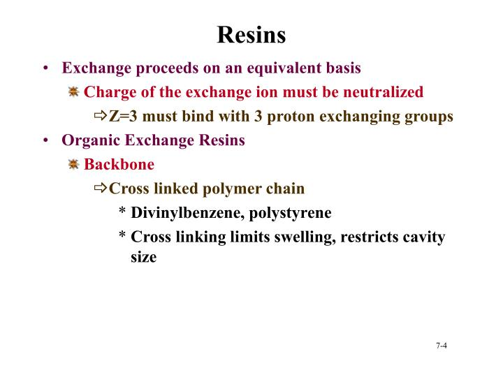 Resins