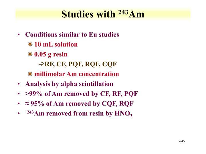 Studies with