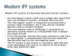 modern iff systems
