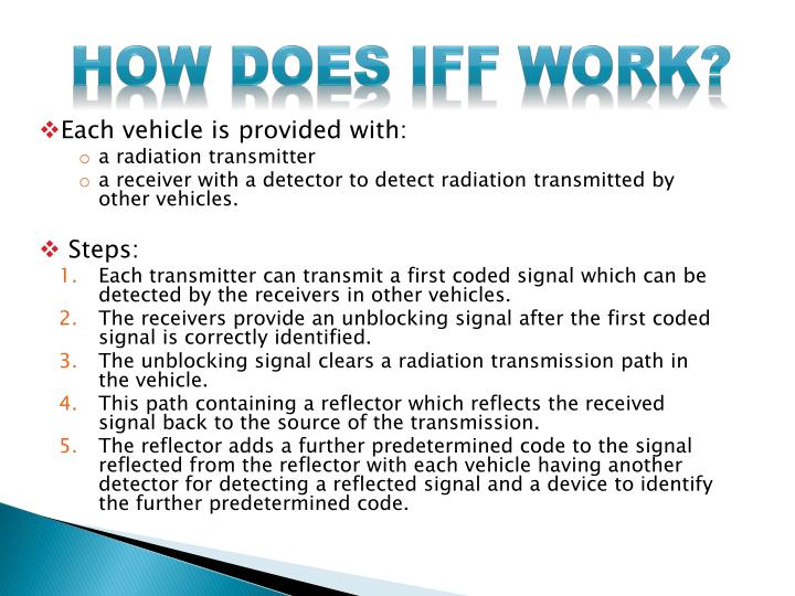 How does IFF work?