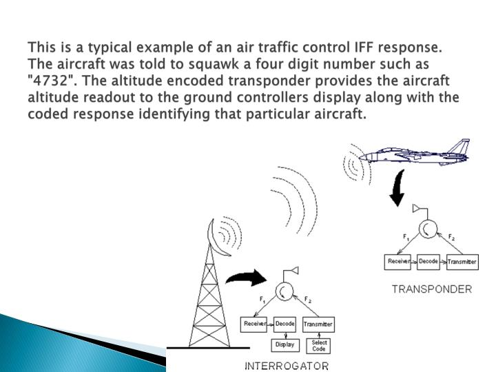 This is a typical example of an air traffic control IFF response.