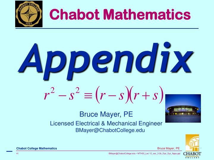 Chabot Mathematics