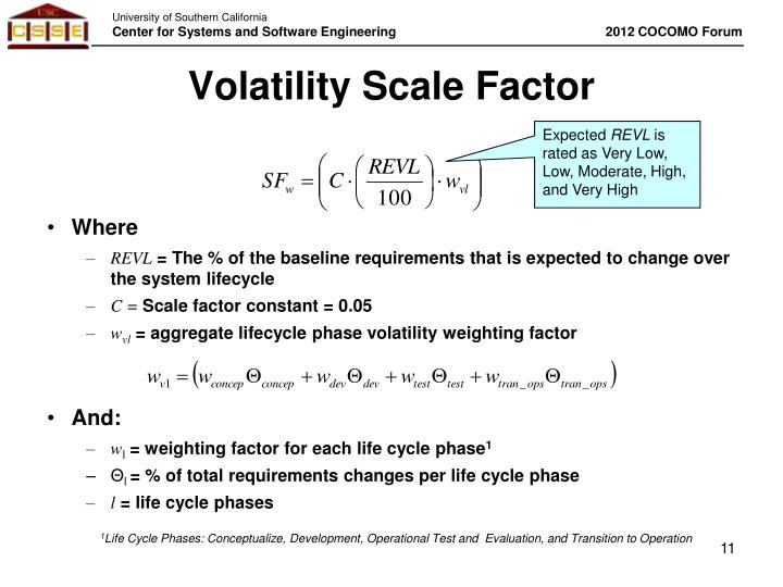 Volatility Scale Factor
