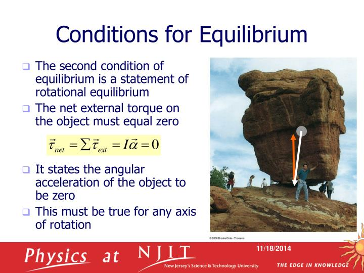 Conditions for Equilibrium