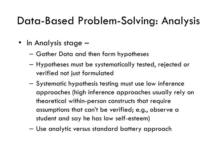 Data-Based Problem-Solving: Analysis