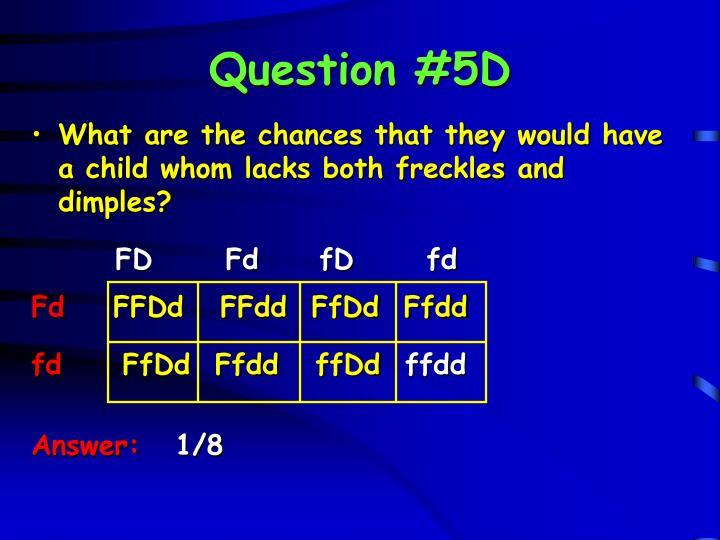Question #5D