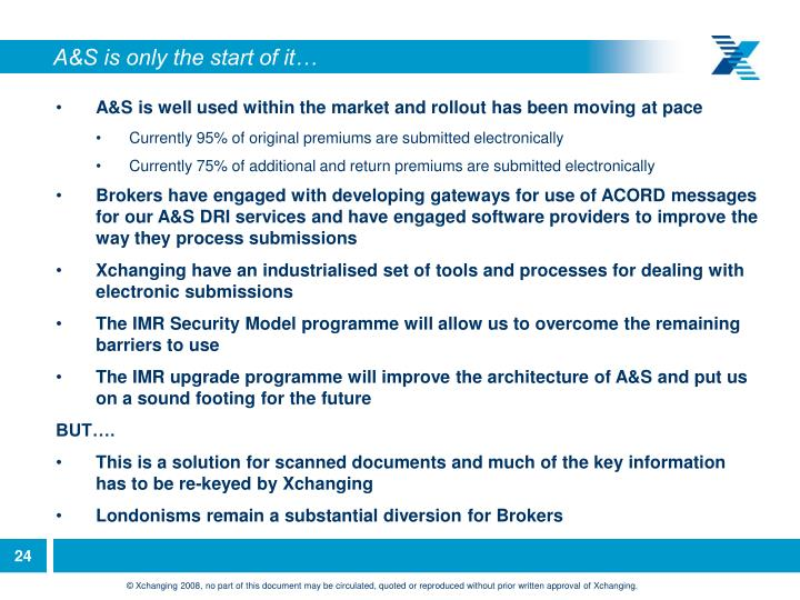 A&S is only the start of it…