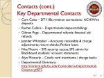 contacts cont key departmental contacts