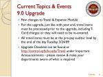 current topics events 9 0 upgrade1