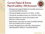 current topics events payroll liability ar accounts