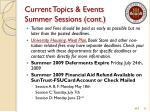 current topics events summer sessions cont
