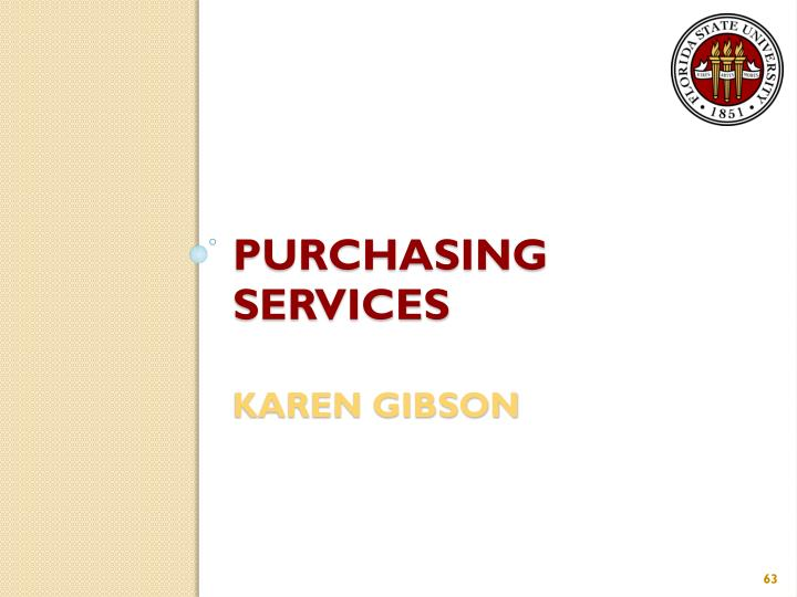 Purchasing Services