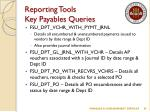 reporting tools key payables queries