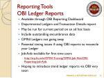 reporting tools obi ledger reports