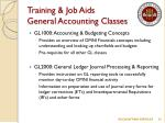 training job aids general accounting classes