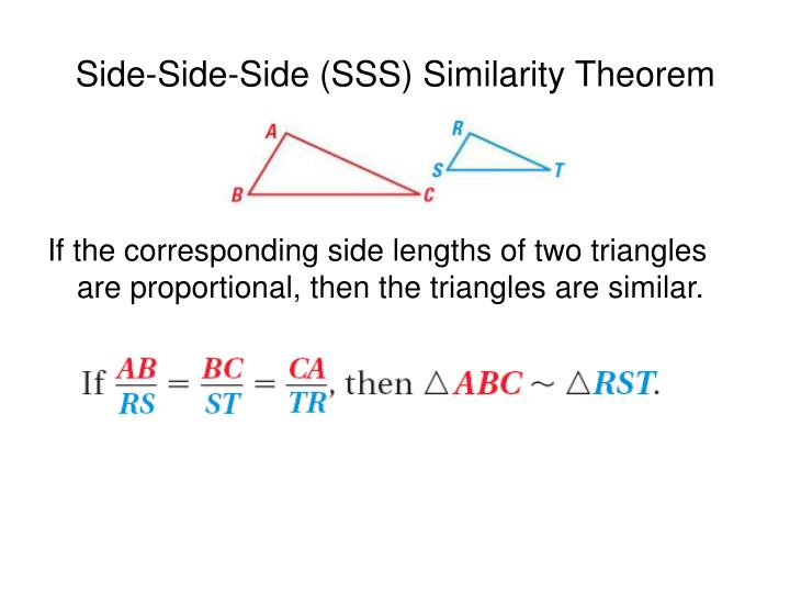 Side side side sss similarity theorem