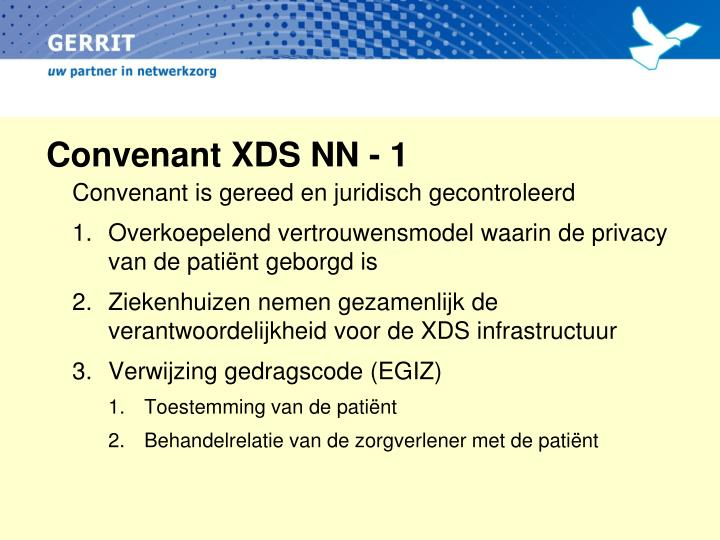 Convenant XDS NN - 1