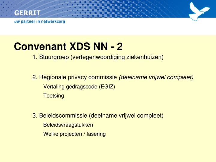 Convenant XDS NN - 2