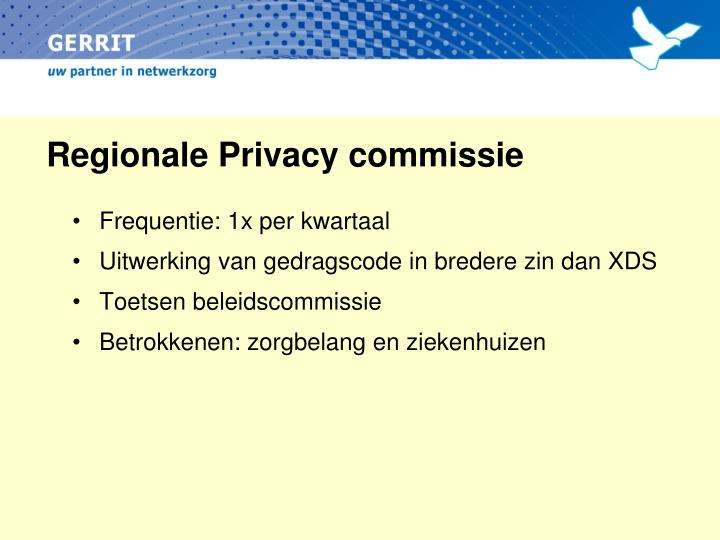 Regionale Privacy commissie