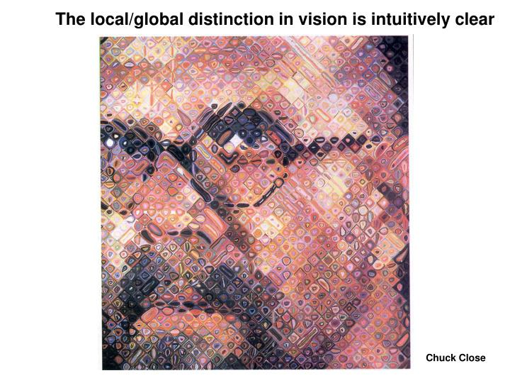 The local/global distinction in vision is intuitively clear