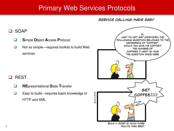 Primary Web Services Protocols