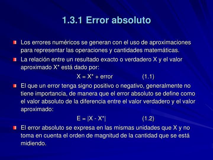 1.3.1 Error absoluto