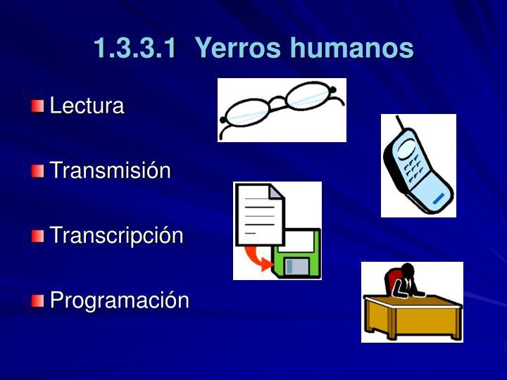 1.3.3.1  Yerros humanos