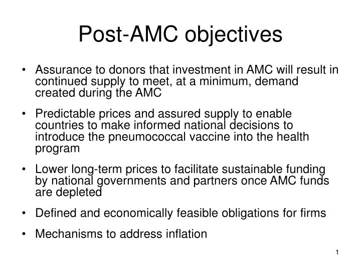 Post amc objectives