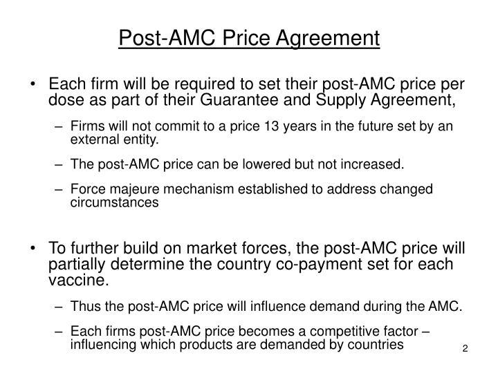 Post-AMC Price Agreement