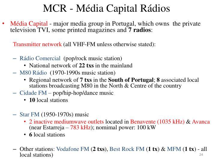MCR - Média Capital Rádios