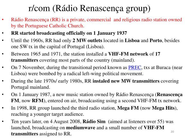 r/com (Rádio Renascença