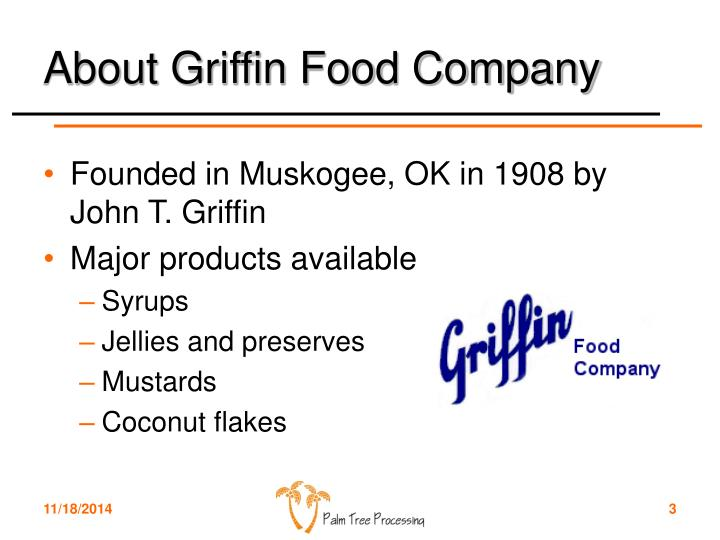 About Griffin Food Company