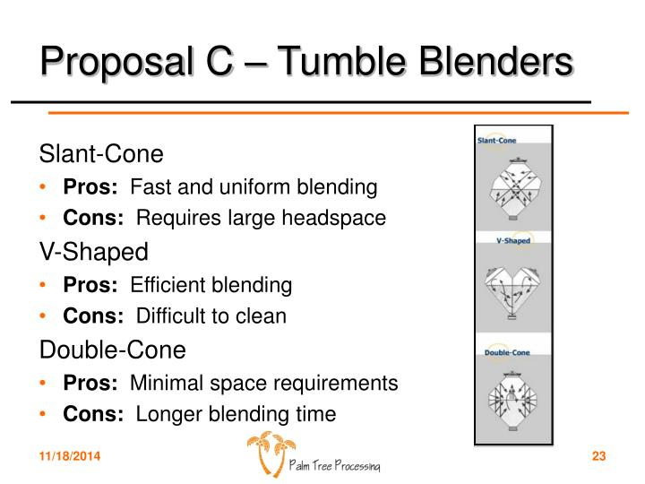 Proposal C – Tumble Blenders