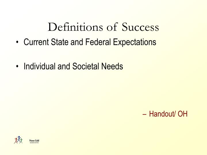 Definitions of Success