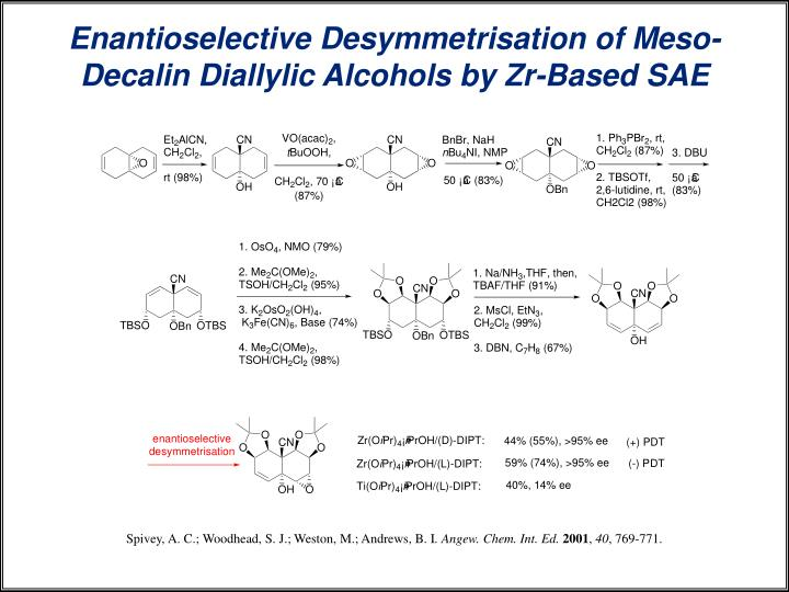 Enantioselective Desymmetrisation of Meso-Decalin Diallylic Alcohols by Zr-Based SAE