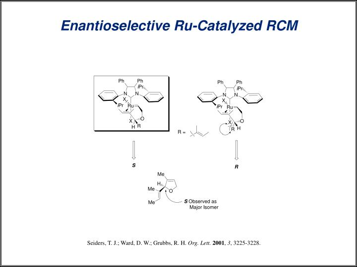 Enantioselective Ru-Catalyzed RCM