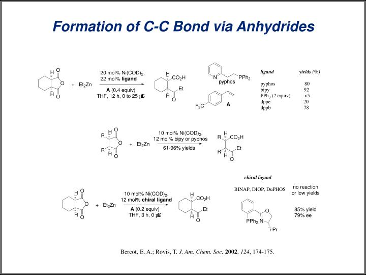Formation of C-C Bond via Anhydrides
