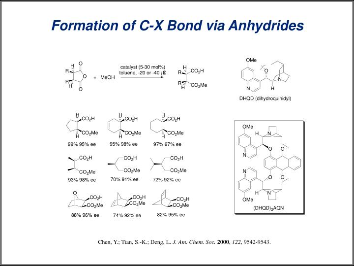 Formation of C-X Bond via Anhydrides