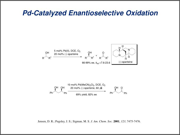Pd-Catalyzed Enantioselective Oxidation