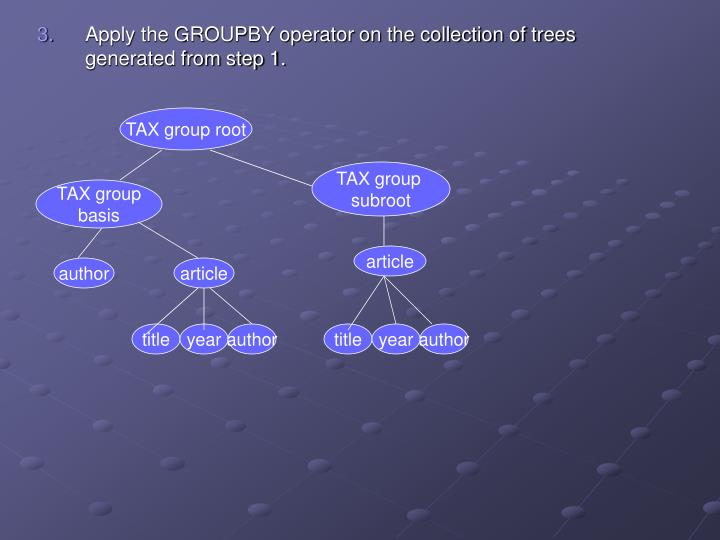 TAX group root