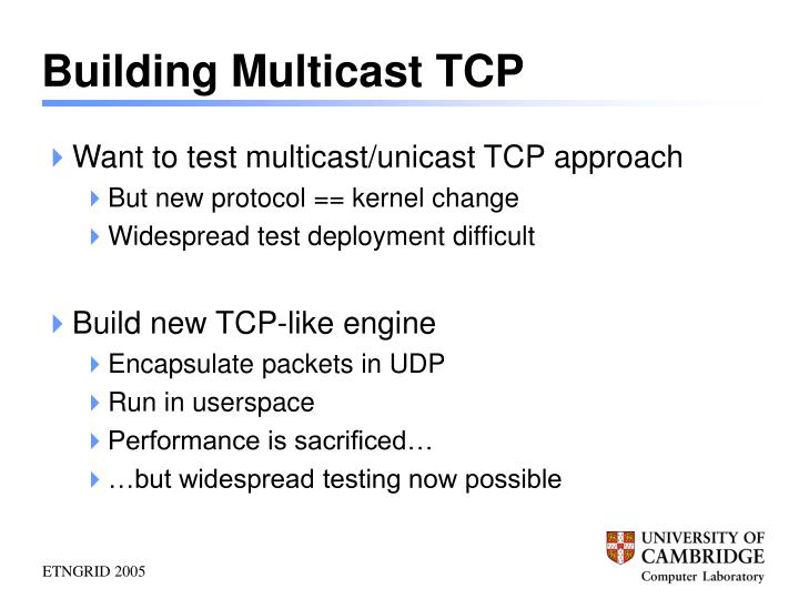 Building Multicast TCP