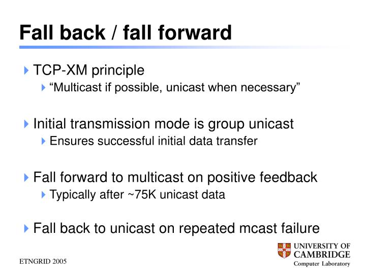 Fall back / fall forward