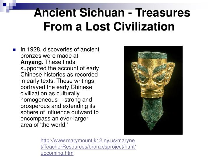 Ancient Sichuan - Treasures    From a Lost Civilization