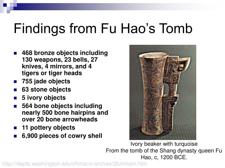 Findings from Fu Hao's Tomb