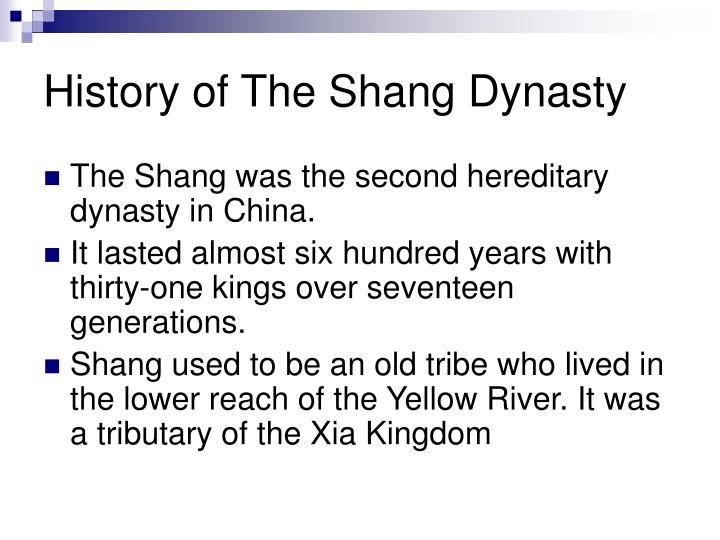 History of The Shang Dynasty